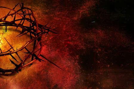 Cier: Korona cierniowa na tle grunge Zdjęcie Seryjne
