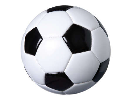 Black and white soccer ball isolated on white Stock Photo - 15145346
