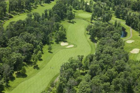 미네소타에있는 골프 코스의 공중보기