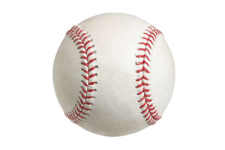 A major league baseball isolated on a white background Stock Photo