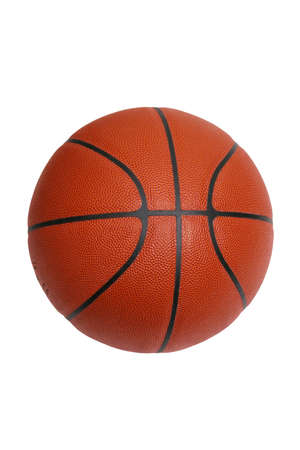 An official size basketball isolated on a white background