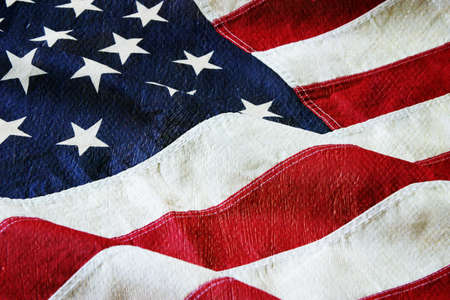 Detail of an American flag with a canvas and paint texture Stock Photo - 17692128