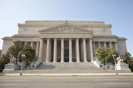 National Archives building in Washington DC viewed from the front Stock Photo
