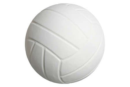 A volleyball isolated on a white background with clipping path Stock Photo - 17692115