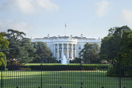 The White House in Washington DC viewed from the south side photo