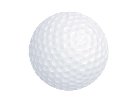 A vector image of a golf ball isolated on a white background