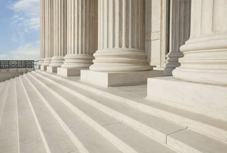 us government: Front steps and pillars of the Supreme Court building in Washington DC