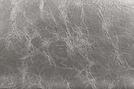 silvery: Silvery imitation leather texture background with wrinkles
