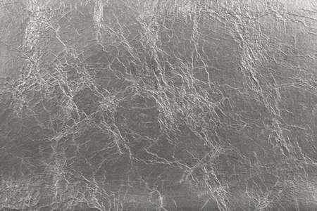 imitation leather: Silvery similpelle texture di sfondo con rughe