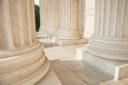 court: Marble columns of the Supreme Court of the United States