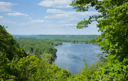 overlook: View of the Mississippi River from an overlook near Guttenberg, Iowa
