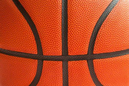 黒の縫い目を示すバスケット ボールのショットを閉じる 写真素材