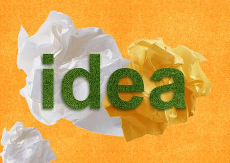 imaginary dialogue: Pensamiento creativo con lluvia de ideas. Foto de archivo