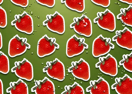 seamless background of fresh straberry  slices photo