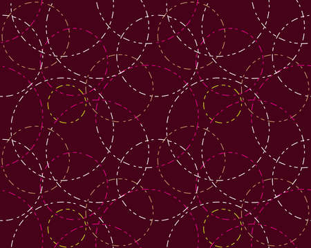 fabric art: Abstract seamless background colored outline cycles  Illustration