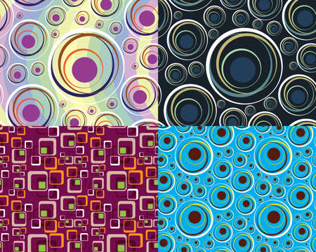 retro circles: Abstract seamless background for wallpapers and wrapping paper. Illustration