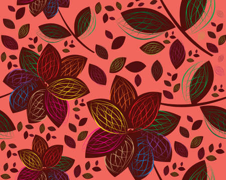 colored and modern Retro floral seamless background. Vector