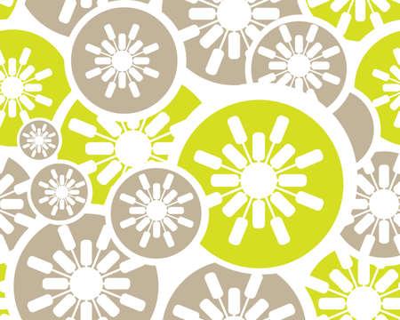 색과 현대 레트로 꽃 원활한 배경입니다.