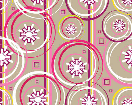 colored and modern Retro floral seamless background.