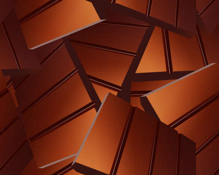 Delicious Sparse chocolate bars background  Vector