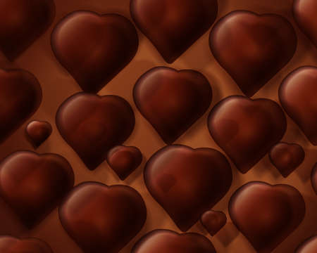 cacao: abstract Seamless chocolate fo heart shape background