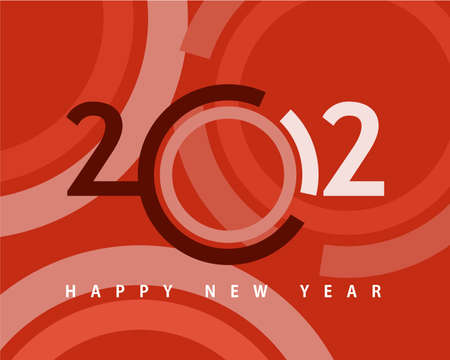 Happy new year 2012, conceptual 2012 year created from circles with colored background. Vector
