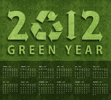 New year 2012 Calendar with ecology conceptual image for 2012 year. photo