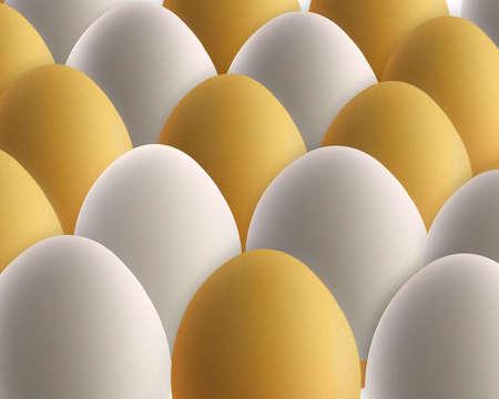 likeness: set of golden and white eggs