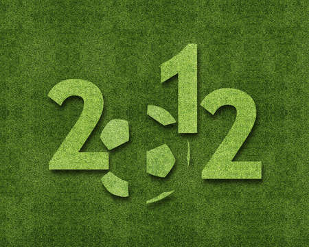 Happy new year 2012, soccer sport conceptual image Stock Photo - 11798618