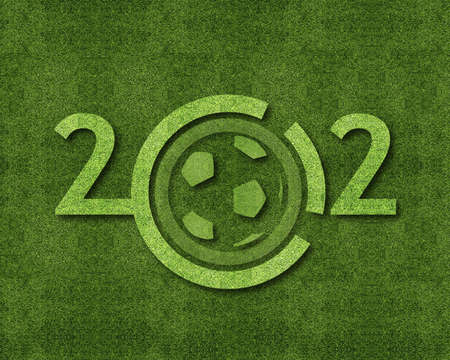 Happy new year 2012, soccer sport conceptual image Stock Photo - 11798625