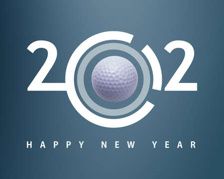 Happy new year 2012, Golf sport conceptual image Stock Photo - 11798648