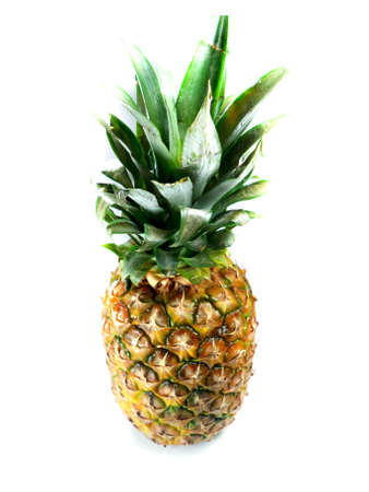 fruit and veg: Fresh pineapple isolated over white background
