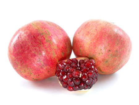 pomegranate and its part. Isolated on a white background.  photo
