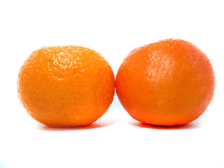 Fresh Clementine isolated on a white background photo