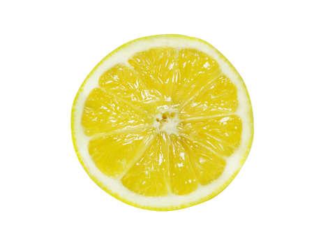 adjuvant: Fresh Half Lemon isolated over white.