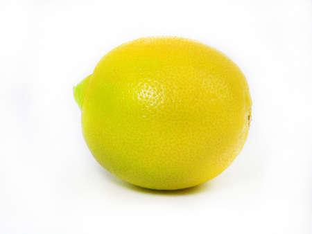 adjuvant: Fresh Lemons isolated over white.