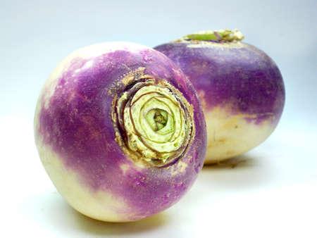 purple headed turnips  isolated on white background