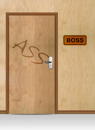 Boss door with ass word, conceptual image. Stock Photo - 12835283