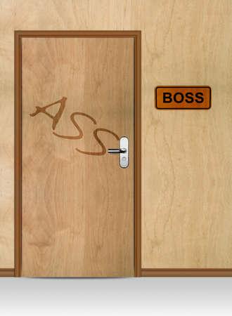 Boss door with ass word, conceptual image. Stock Photo - 12835283
