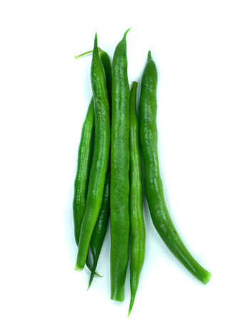 Green beans isolated on a white background. Stock Photo - 13171733