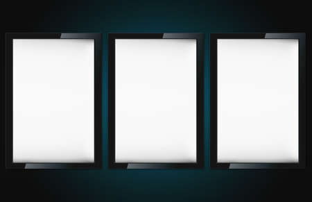 adboard: Blank advertising billboard on wall with copy space for your announcement.