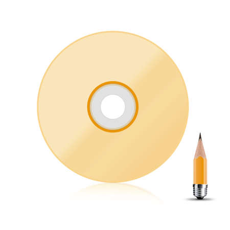 bluray: front view of Blank compact disk cover white. Stock Photo