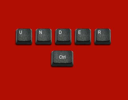 imaginary dialogue: Palabra bajo el control de Hecho de teclas del teclado de ordenador, los botones del teclado con las ideas.