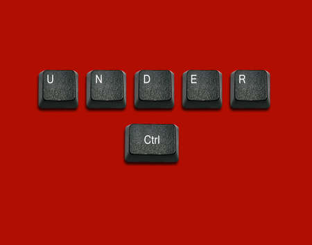 Word under control Made From Computer Keyboard Keys, keyboard buttons with ideas.