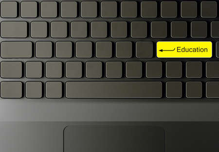 Keyboard with Education button, Education concept. photo