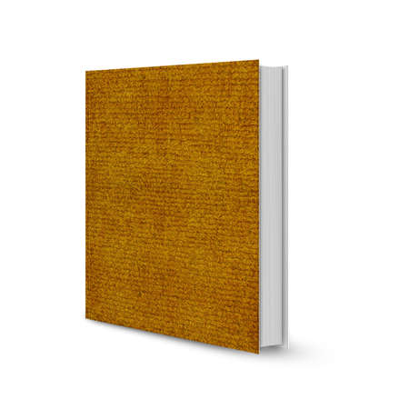 front view of Blank book cover brown mat. Stock Photo - 13171602