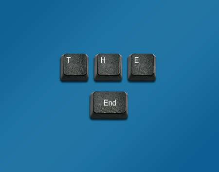 imaginary dialogue: Palabra al final, hizo de las teclas del teclado de ordenador, los botones del teclado con las ideas. Foto de archivo