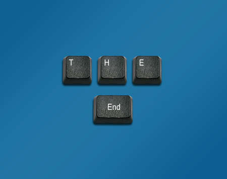 imaginary dialogue: Word The end Made From Computer Keyboard Keys, keyboard buttons with ideas. Stock Photo