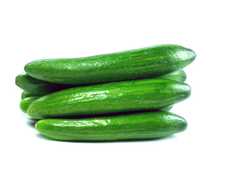 Fresh Cucumber over white background Stock Photo - 13171720