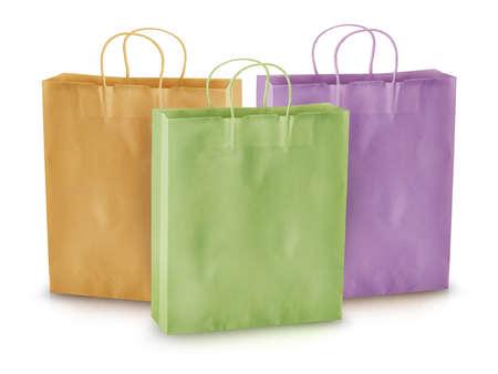 Shopping concept, empty shopping bags. photo